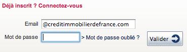 WWW.CREDIT-IMMOBILIER-DE-FRANCE.FR - Mon Espace Perso