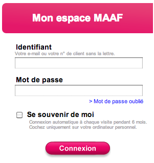 WWW.MAAF.FR - Mon Compte, Mon Coffre Fort