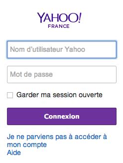 WWW.YAHOO.FR - Ouverture de session Mail avec Yahoo Mail