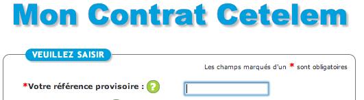 MONCONTRAT.CETELEM.FR - Espace Contrat en ligne